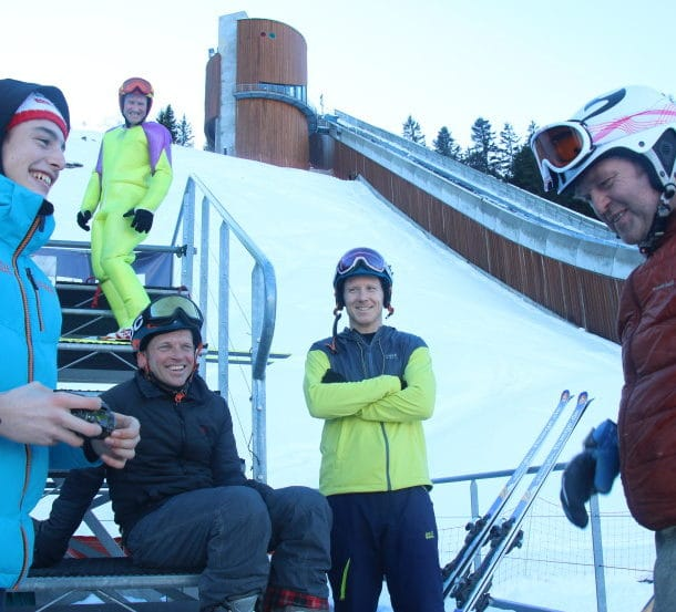 A Photo Blog Of Our Team Learning To Ski Jump With Eddie The Eagle In Courchevel 2
