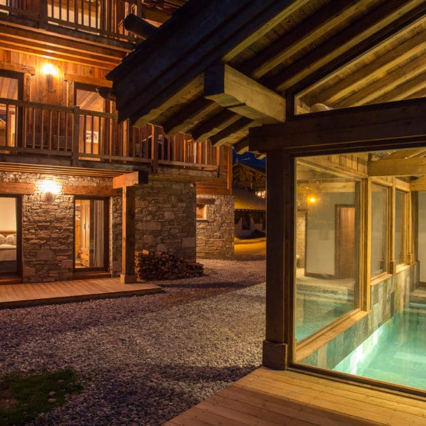 Swimming Pool In Our Luxury Ski Chalets In Courchevel And Meribel 4