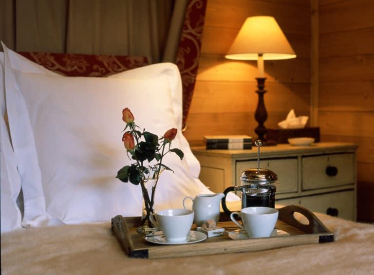 Tea Tray In Luxury Ski Chalet Bartavelles In Meribel