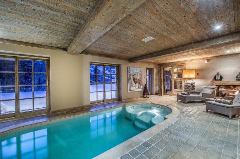 Swimming Pool Luxury Ski Chalet Cristal Lodge Meribel