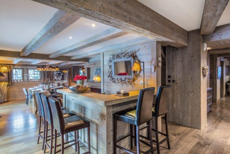 Dining Room Luxury Ski Chalet Cristal Lodge Meribel