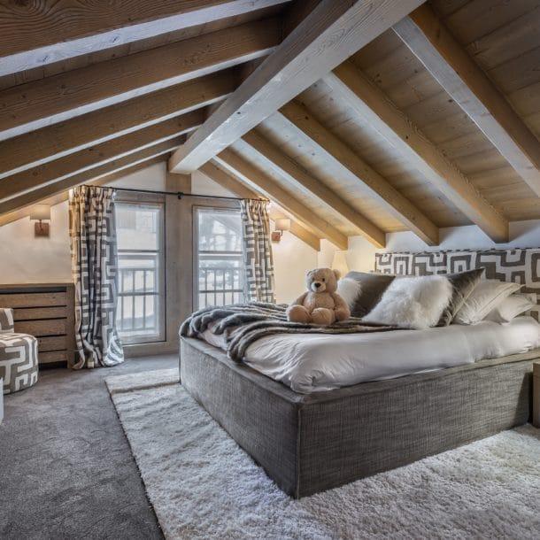 Bedroom Luxury Ski Chalet Cristal Lodge Meribel