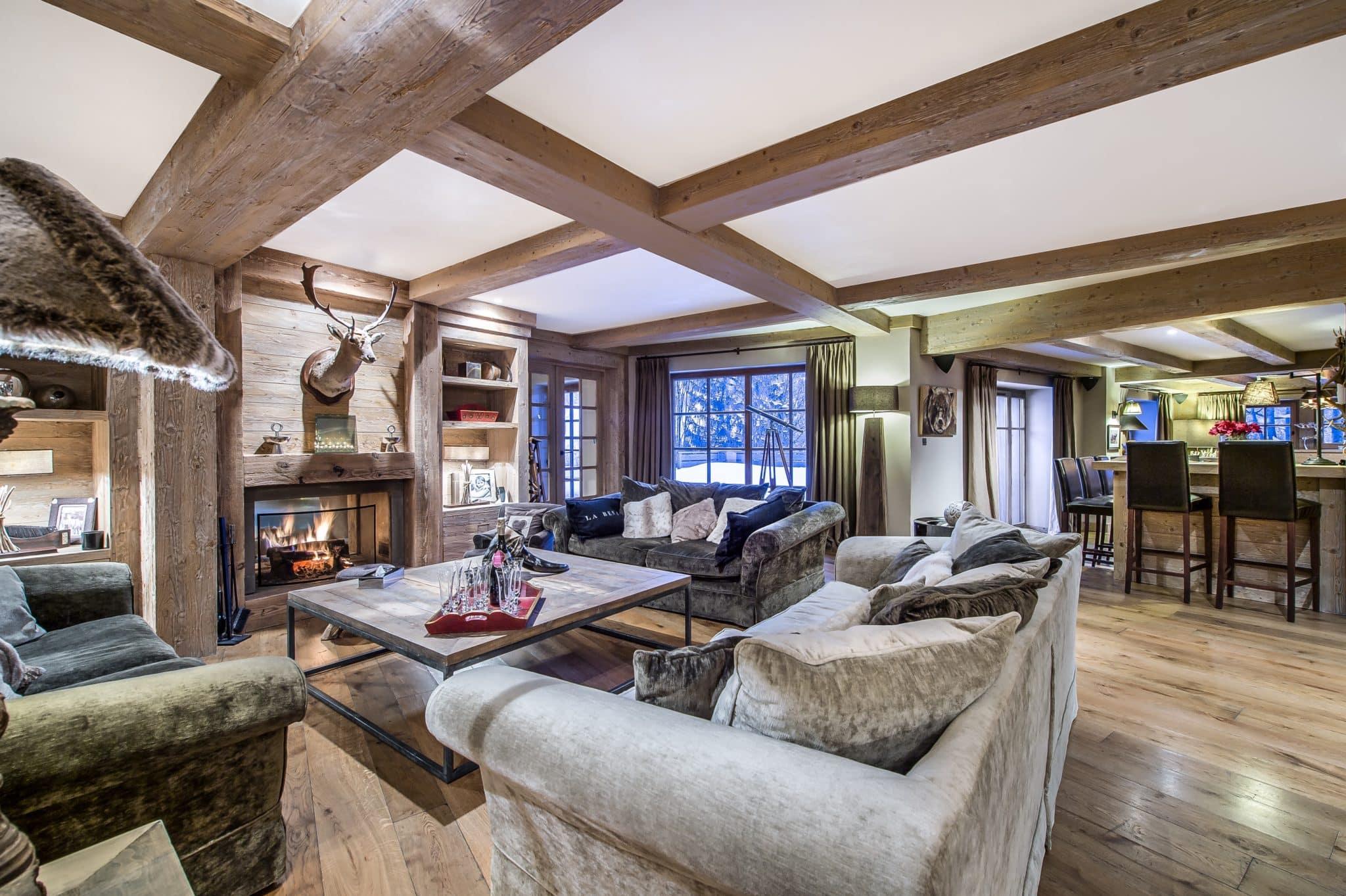 Salon 4 Chalet de Ski de Luxe Cristal Lodge Meribel
