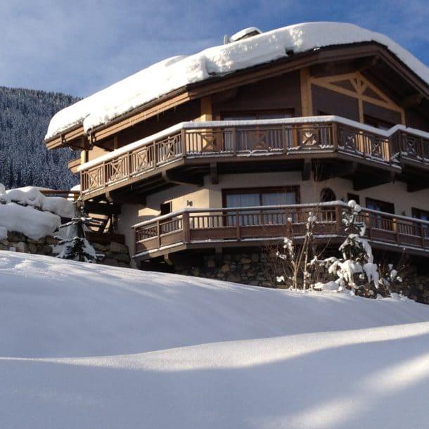 Exterior View Luxury Ski Chalet Igloo Courchevel
