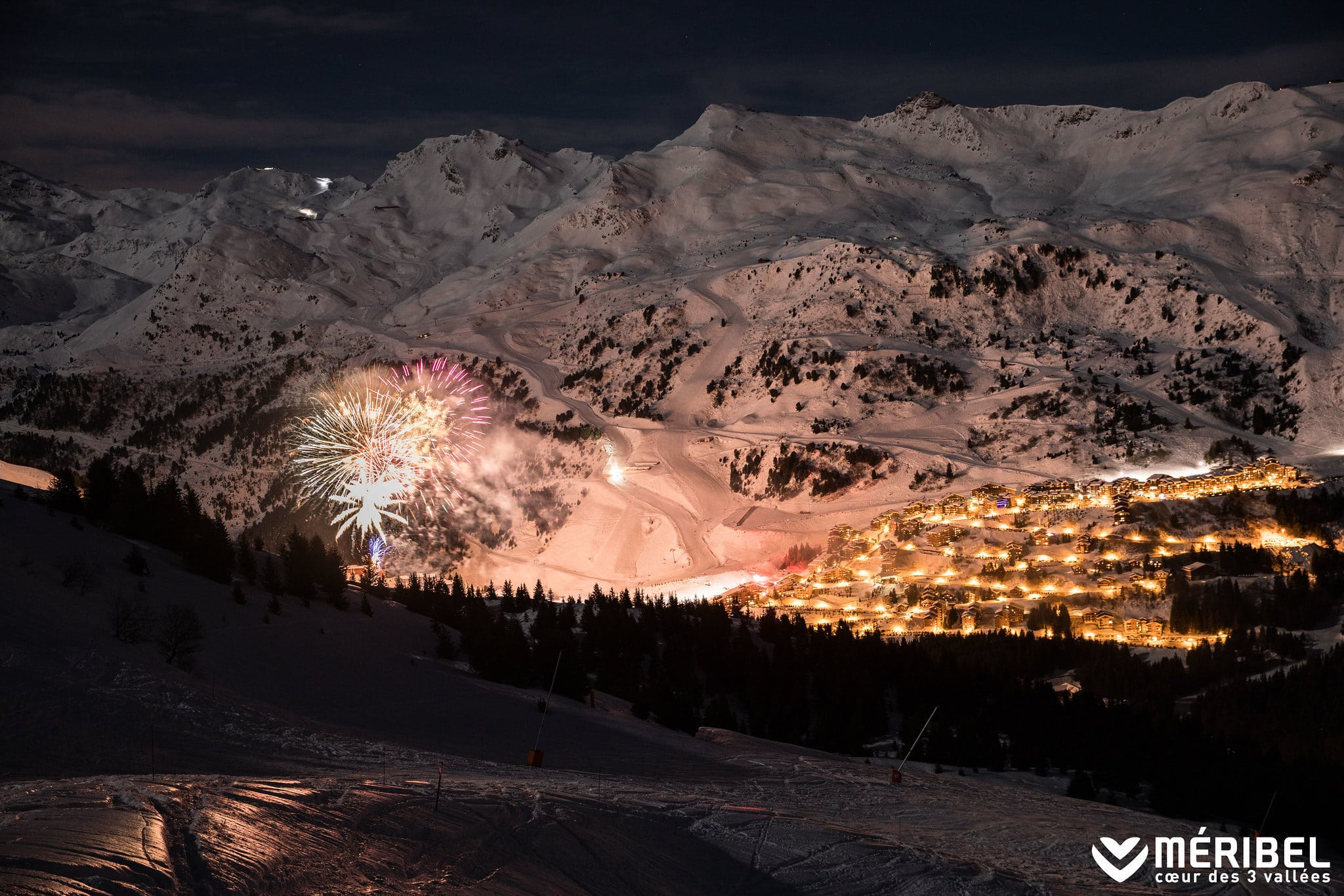 Watch The Fireworks In Meribel From Your Luxury Ski Chalet