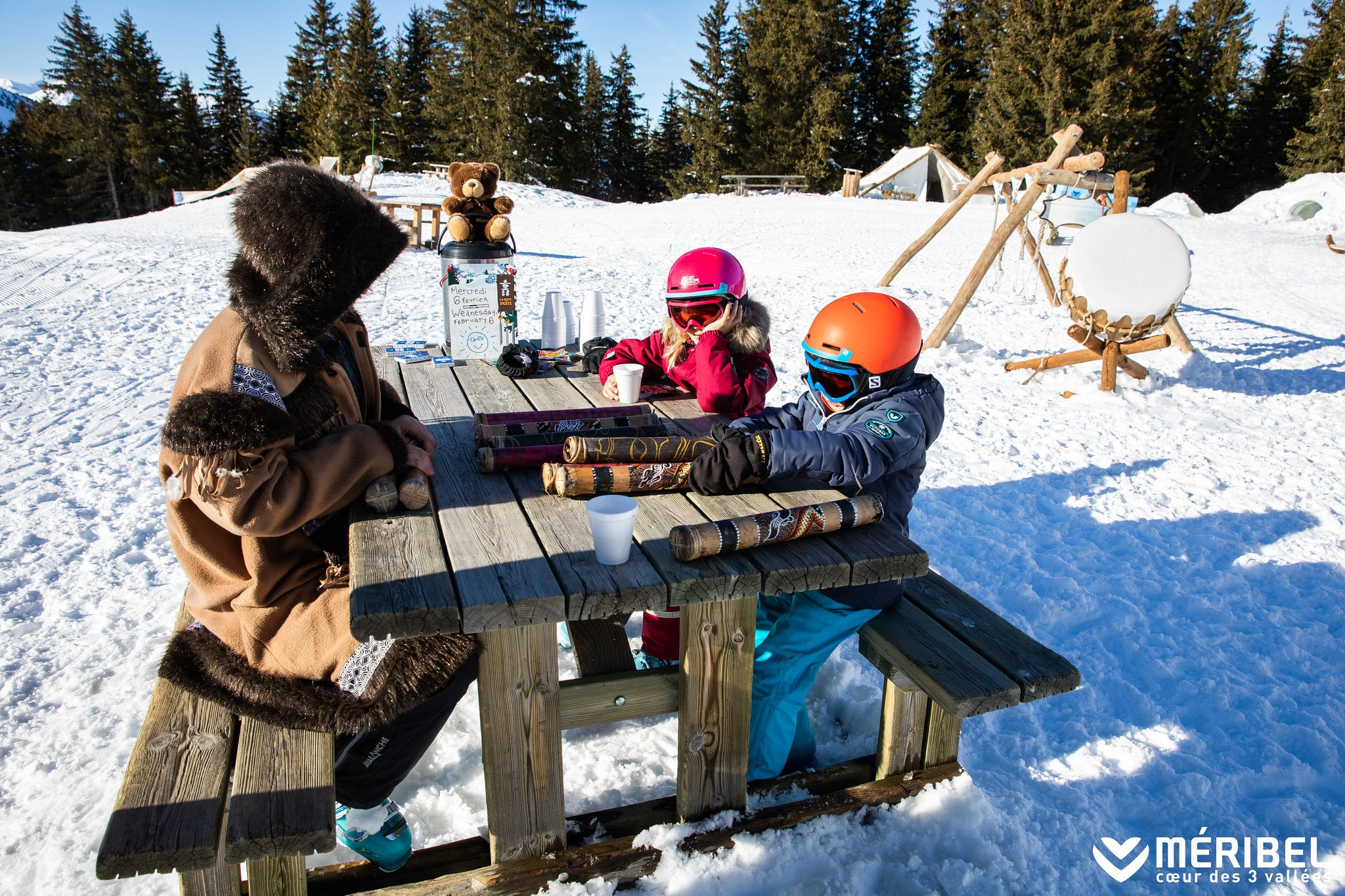 Picnic With Kids Skiing In Meribel And Courchevel