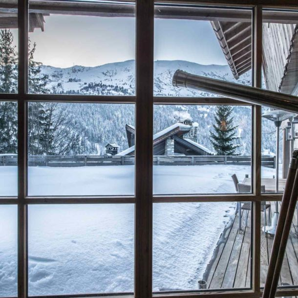 Sitting Room View With Telescope Luxury Ski Chalet Cristal Lodge Meribel